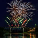 Alytaus miesto gimtadienio fejerverkai 2019 ant aukščiausio Lietuvos tilto